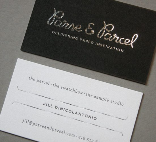 Parse and Parcel Foil Stamping