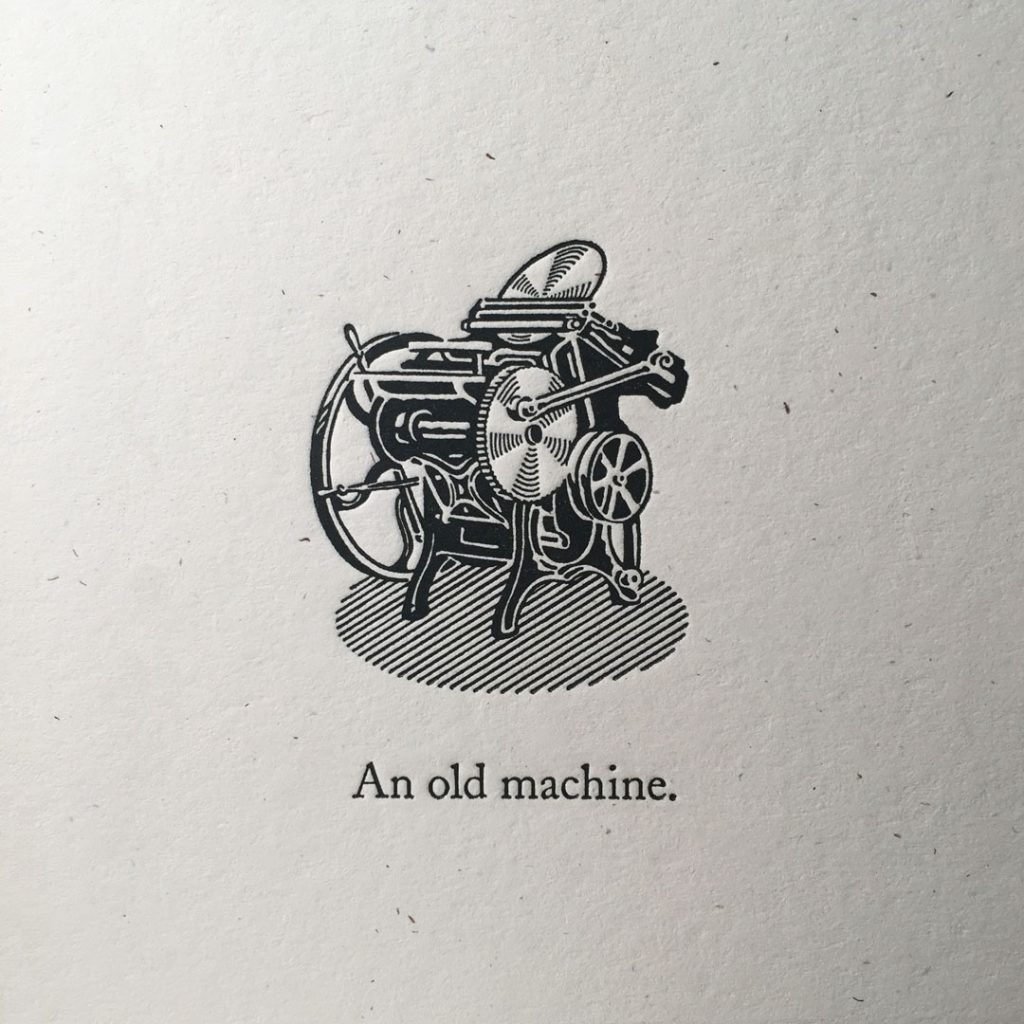 An old letterpress machine
