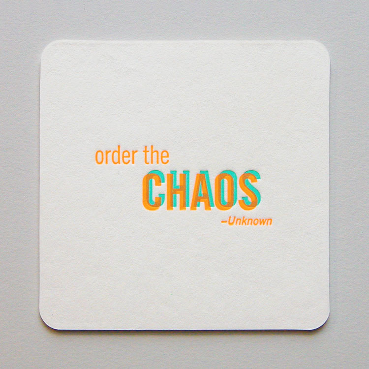 Anthem Coasters - Chaos Back