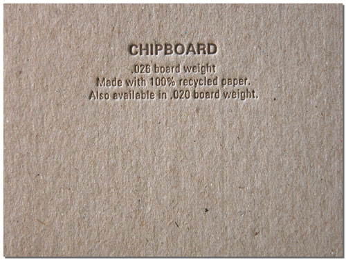Chipboard Stock
