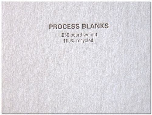 Process Blanks Stock