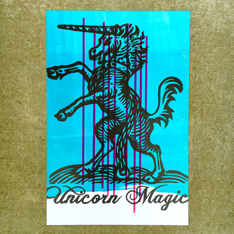 Unicorn Magic Letterpress Print