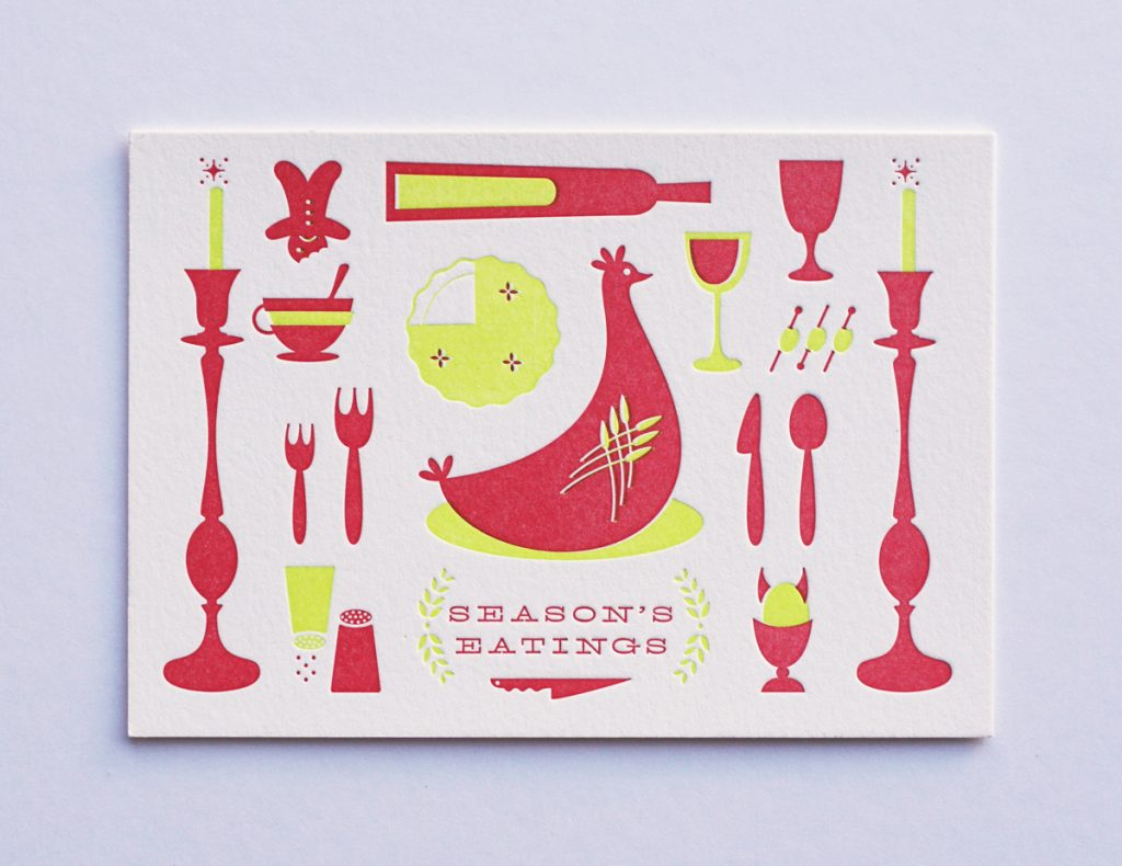 Season's Eatings Letterpress Card