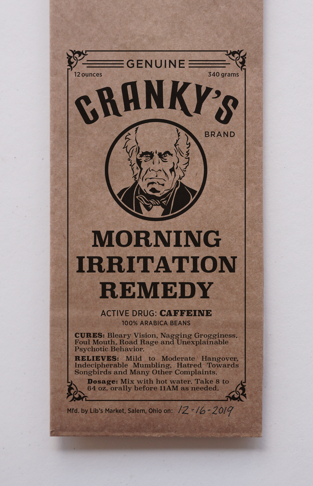 New Cranky Coffee Packaging