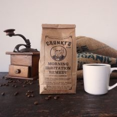 Cranky's Brand Coffee Bag and Beans