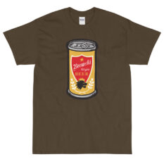 Brewski Beer design on olive t-shirt